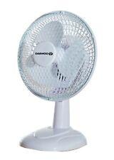 "Daewoo 6"" Electric Tilting Mini Portable Air Cooling Worktop Desk Top Fan White"