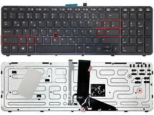 Kleine Enter version - DE Tastatur mit Beleuchtung, Rahmen für HP ZBook 15 G1