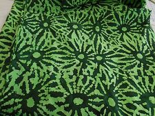 """BATIK geometric green one-of-a-kind 100% cotton quilting fabric 3 yds x 44"""" wide"""