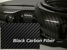"BLACK CARBON FIBER Hydrographics Film Water Transfer Printing 79x19"" DIP US"
