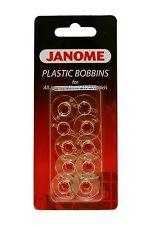 Genuine Janome Plastic Bobbins for Janome MCHS X 10