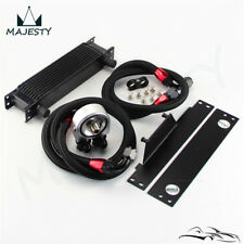 AN10 10 Row Bolt On Black Oil Cooler Kit For 01-05 Subaru Impreza WRX/STi
