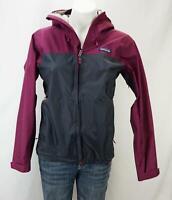 Patagonia Women's Zip Up Fleece Jacket With Hood Raspberry Gray Size XS