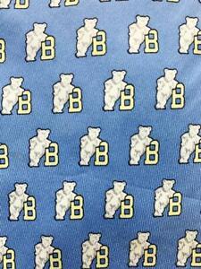 VINEYARD VINES BLUE IVORY BEARS SILK NECKTIE TIE MJL0421A #Y16