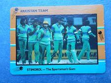 SCANLENS STIMOROL 1988/89 CRICKET CARD - Pakistan Team # 121 (Pak)