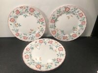 3 CHURCHILL STAFFORDSHIRE ENGLAND  ''BRIAR ROSE'' DINNER PLATES  10''