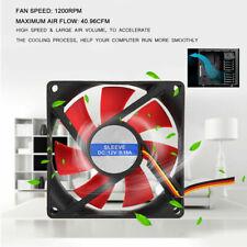 2pcs Quiet 80x80x25mm 12V 4pin 1200RPM Computer PC CPU Silent Cooling Case Fan