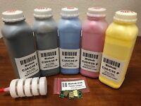 5 Toner Refill for Konica Minolta Bizhub C35, C35P + 5 Chip (TNP22) (C35 ONLY) !