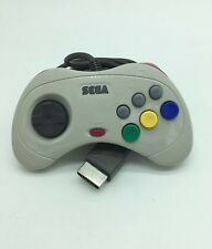 Sega Saturn Official Controller White & Greyt Pad Authentic And Working 6ft cord