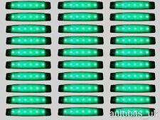 30 pcs GREEN 24V 6 LED Side Front Marker Indicator Lights MERCEDES RENAULT IVECO