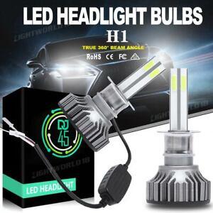 4-Sides H1 LED Headlight 120W 32000LM High Beam Fog Light Bulb 6000K Xenon White