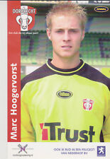 AUTOGRAMMKARTE / AUTOGRAPHCARD Marc Hoogervorst FC Dordrecht 2003/2004