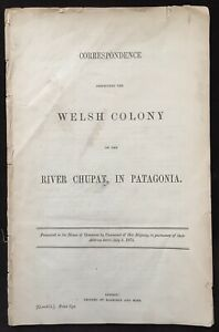 Argentina 1871 Welsh Colony in Patagonia - Original Printed Report of Conditions