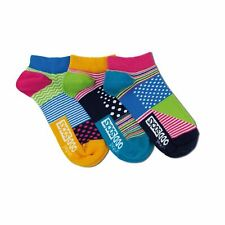 United Oddsocks Stripes Dots UK 4-8 Pair With A Spare Woman 3 Odd Liner Socks