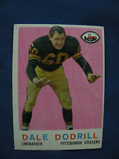 1959 Topps Dale Dodrill Pittsburgh Steelers card #34 NFL football