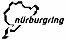 Nurburgring Nurenburg Sticker Decal Graphic Vinyl Label Black White Red Silver