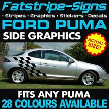 FORD PUMA GRAPHICS DECALS STRIPES STICKERS ZETEC 1.4 1.6 1.8 RACING RALLY ALLOYS