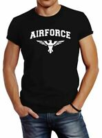 Neverless® Herren T-Shirt Airforce US Army Adler Militär T-Shirt Fashion