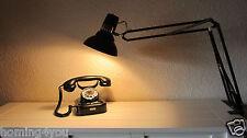 LEDU Klemm- Tischlampe Büroleuchte  Architektenlampe Lampe '60s braun Vintage