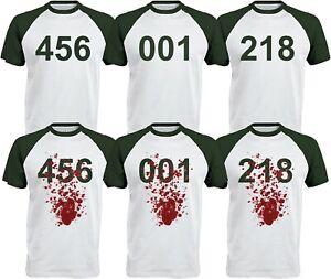 Squid Game Inspired Teeshirt 456 tee shirt 001 218 Tee UK SELLER