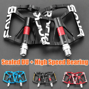 """ROCKBROS Bicycle Pedals Ultralight Bearing MTB Road Bike Pedals Reflective 9/16"""""""