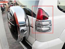 2x Chrome Rear Tail Light Lamp Frame Cover Trim For Toyota Prado FJ120 2003-2009