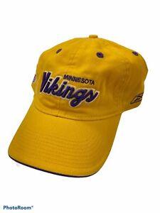 NFL Minnesota Vikings Reebok Hat Yellow adjustable Strapback Back Logo