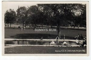SUSSEX, BURGESS HILL, ST. JOHN'S PARK, THE BOATING POOL, RP