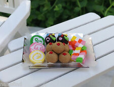 Miniature Dollhouse FAIRY GARDEN Accessories ~ Tray of Assorted Candy Sweets