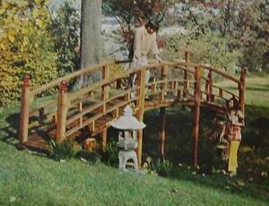 Japanese Foot Bridge HowTo Build Design PLANS Custom Built sized to suit Garden