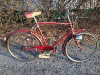 Vintage British 3 Speed BLACK KNIGHT Bicycle with Dyno Three Hub
