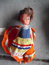 """Small Vintage 1960s Plastic Character Girl Doll 5 3/4"""" Tall"""