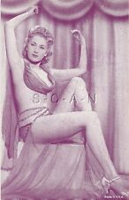 Pin Up- Semi Nude- Sepia-Vendor Arcade / Exhibit Placards- Blond- Dress- 30s-50s