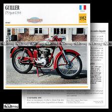 #034.15 GUILLER 175 G 90 S SPORT Modèle 1952 Fiche Moto Motorcycle Card