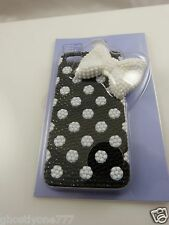 for Iphone 5  phone case black and white bow  bling Claires fits i phone 5