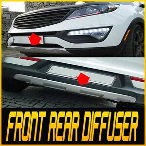 Front & Rear Bumper DIFFUSER Pad Cover 2p 1set For 11-15 Kia Sportage