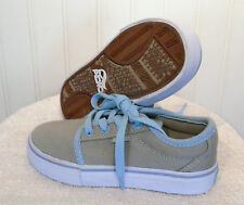 NEW Adio Sydney Boys Canvas Skate Shoes Sneakers 12 Grey/Light Blueqqqqq MSRP$35