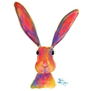 HARE RaBBiT PRINTS WaLL ART of Original Painting ALL EaRS  SHIRLEY MACARTHUR