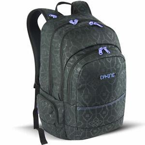 Dakine WYATT 32L Capri Black Print Lavender Logo Organizer Pocket Backpack
