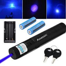 New listing 900Miles 405nm Blue Purple Laser Pointer Pen 18650 Astronomy Lazer+2 x Batt+Char