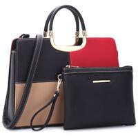 Women Handbag Faux Leather Medium Purse Briefcase Satchel Match Wallet Purse