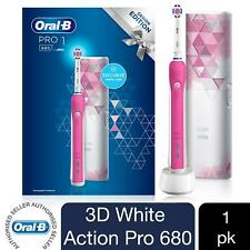 Oral-B Pro 680 3D Pink-White Electric Toothbrush with Travel Case