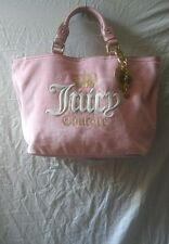 Juicy Couture Pink Large Suede Handbag Tote Purse
