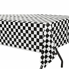 Black And White Check Tablecover|Mad Hatter's Tea Party|Party Tablecover