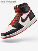 Nike Air Jordan 1 Retro High OG Blood Line Black Red Men's Trainers All Sizes