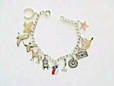 cowgirl charm bracelet vintage sterling Texas