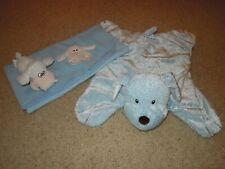 Baby boy blankets - light blue (2)