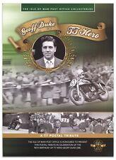 Isle Of Man 2013 TT Hero Geoff Duke 90th Birthday Stamp Sheet Pack With Map Book