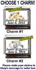 Wedding/Engagement Rings Anniversary Custom Names & Date Italian Charm! Choose!