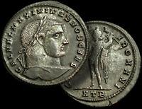 MAXIMINUS Daia. Roman East Emperor / 310-313 AD. / LG 28mm. AE Follis +COA  MINT